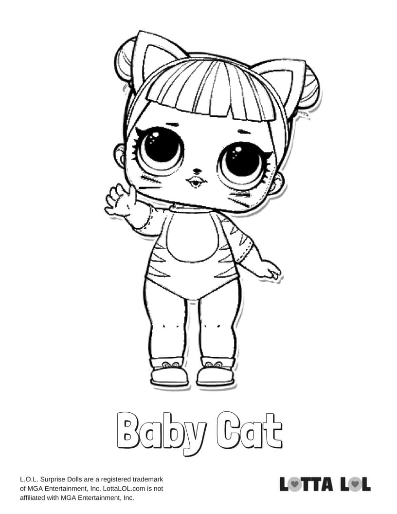 lol doll cat coloring pages lol surprise coloring pages to print topcoloringpagesnet doll coloring lol pages cat
