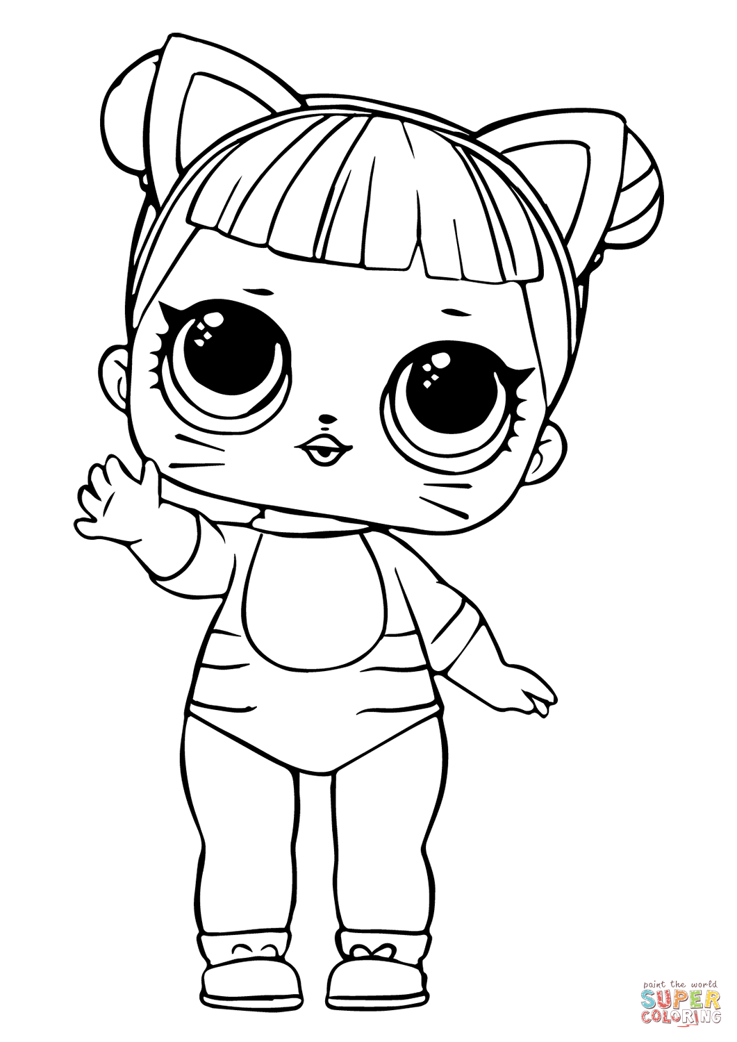 lol doll cat coloring pages lol surprise doll coloring pages series 1 baby cat free coloring doll pages lol cat