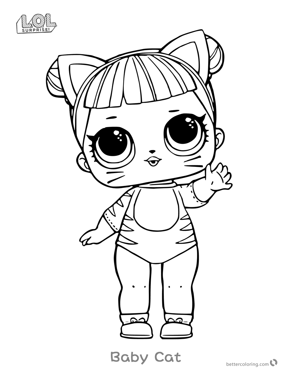 lol doll cat coloring pages royal kitty cat lol coloring pages printable cartoon lol pages doll coloring cat
