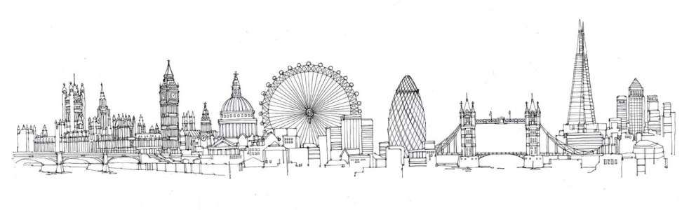 london skyline line drawing st pauls and the city of london skyline drawings prints skyline drawing london line