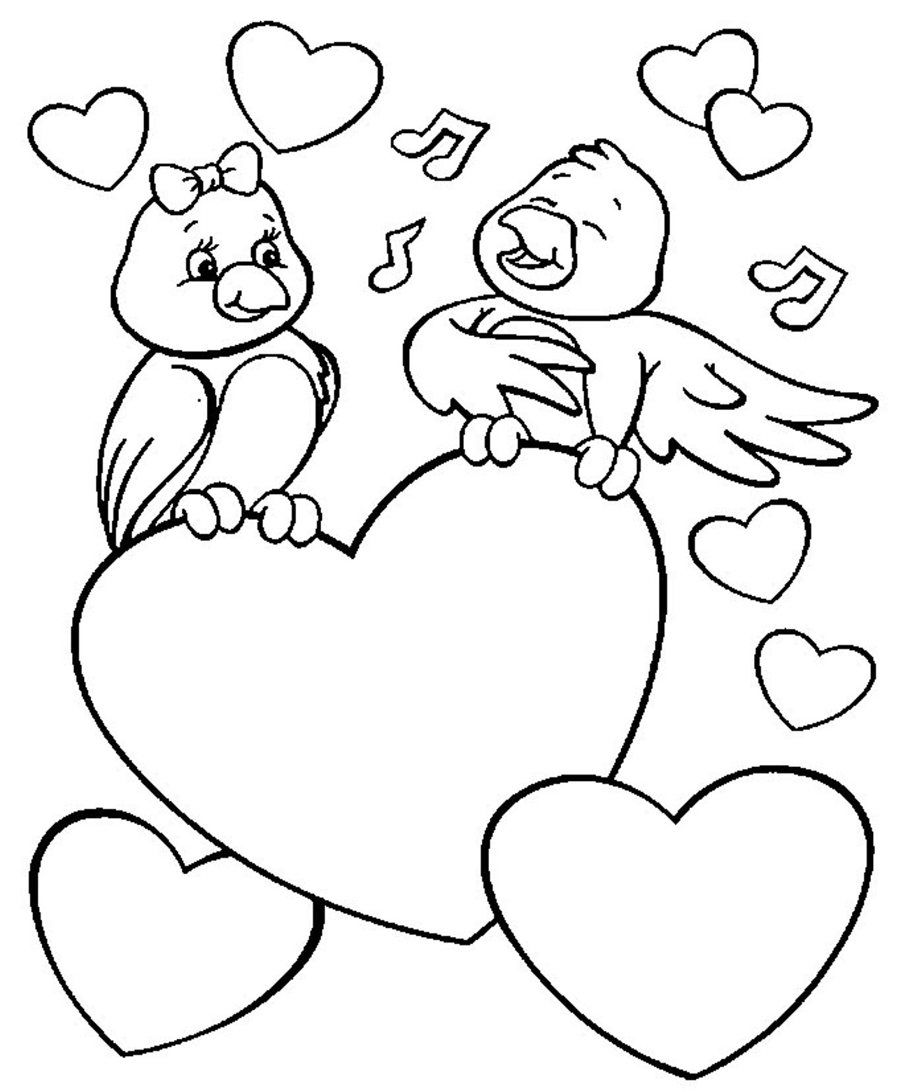 love birds coloring pages love bird coloring pages at getdrawingscom free for birds coloring love pages