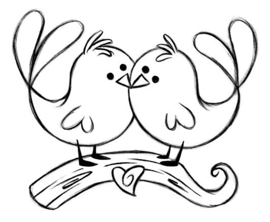 love birds coloring pages love birds coloring page birds love coloring pages