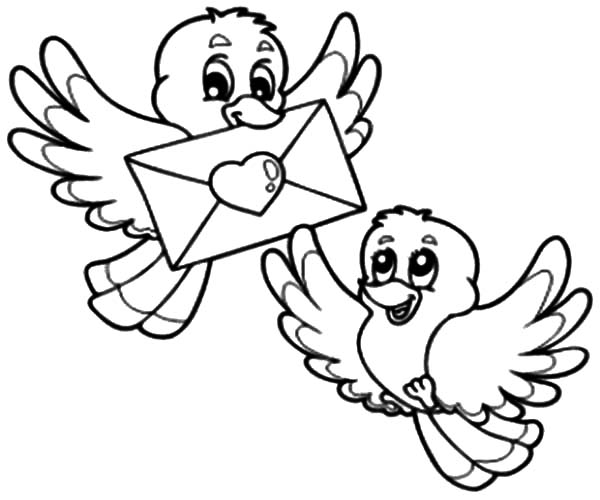 love birds coloring pages love birds drawing images at getdrawings free download coloring love birds pages