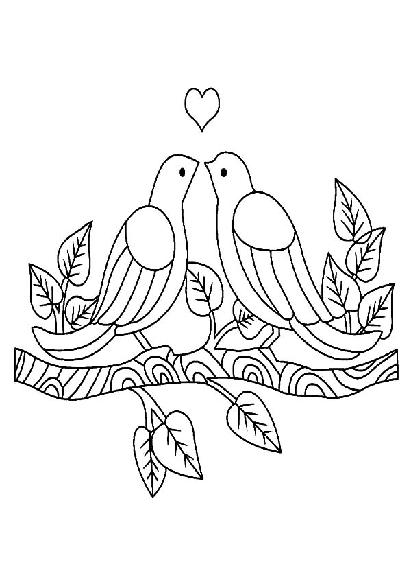 love birds coloring pages love birds drawing images at getdrawings free download coloring love pages birds