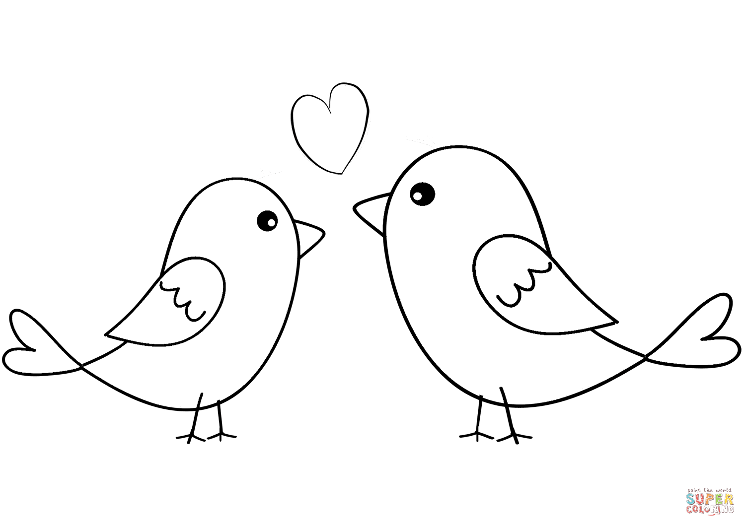 love birds coloring pages two birds in love coloring page free printable coloring pages coloring birds love