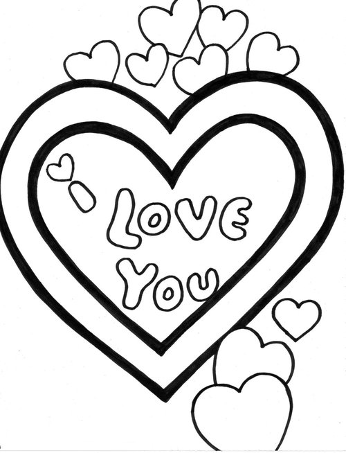 love heart coloring pages love heart colouring pages page 3 coloring home coloring heart love pages
