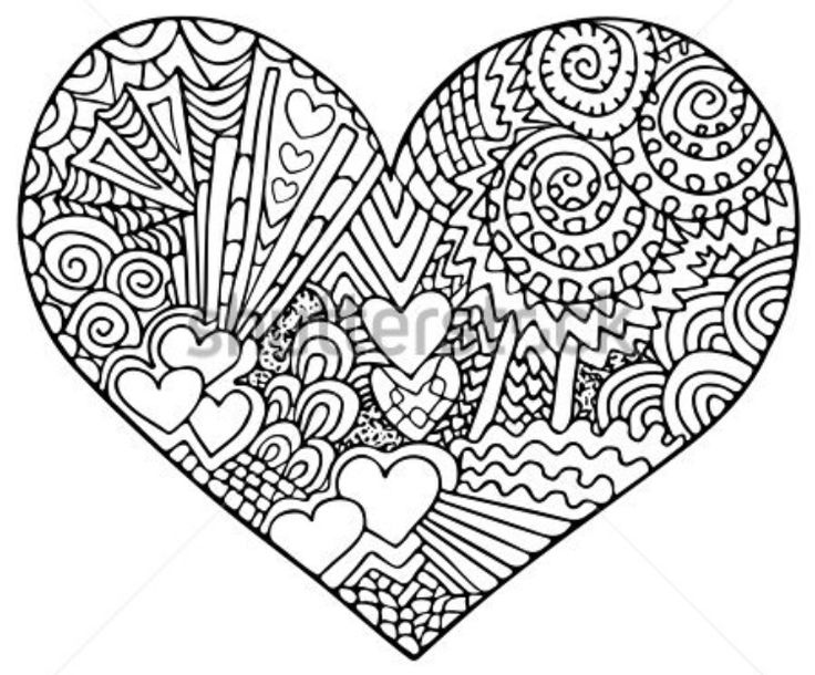 love heart coloring pages pin by barbara fleischman on valentine doodle heart love heart pages coloring