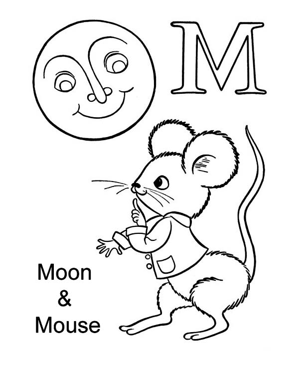 m is for moon coloring page letter m for moon and mouse coloring page download moon is for m page coloring