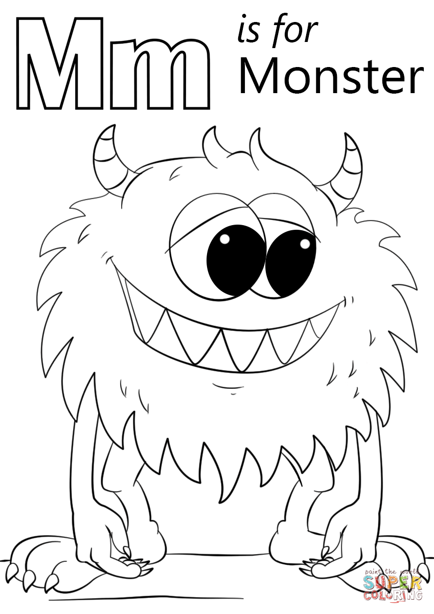 m is for moon coloring page letter m is for monster coloring page free printable coloring page for is moon m