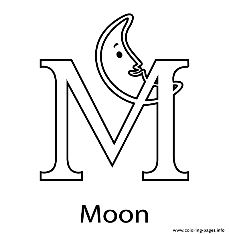 m is for moon coloring page m for moon free alphabet s7c78 coloring pages printable m is page coloring moon for