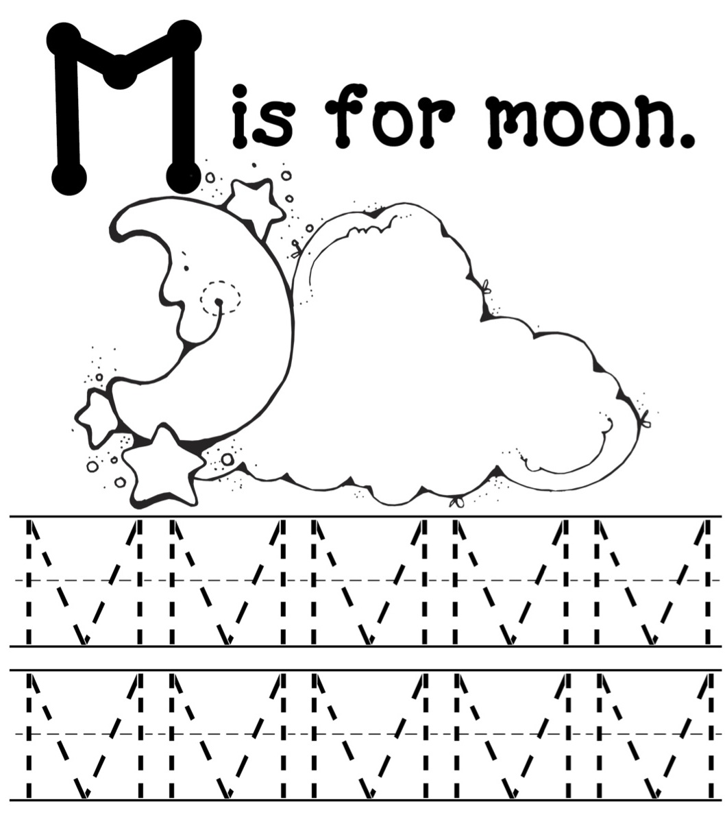 m is for moon coloring page m is for monsters mommy school packet oopsey daisy m page for moon coloring is