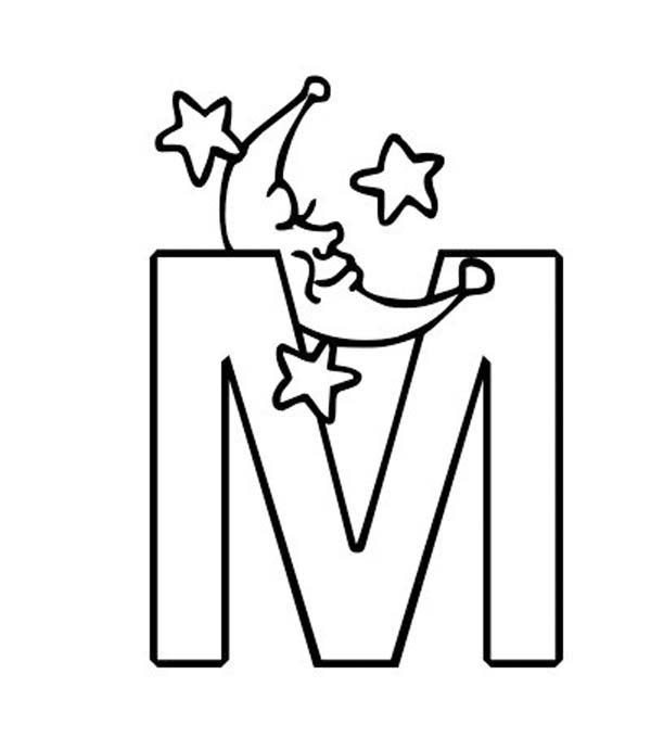 m is for moon coloring page m letter for moon coloring page m letter for moon coloring is m moon page for