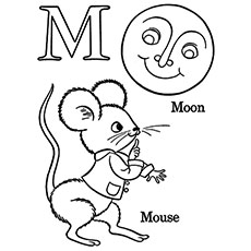 m is for moon coloring page top 10 free printable letter m coloring pages online for page moon is m coloring