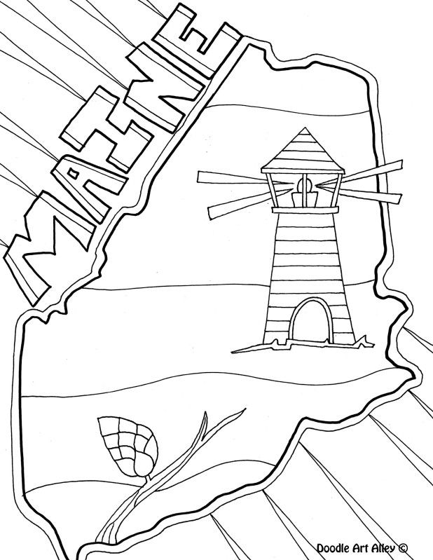 maine coloring pages image result for state of maine mammal coloring pages maine pages coloring