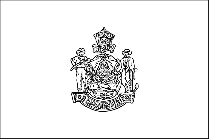 maine state flag coloring page maine flag coloring page purple kitty maine page flag state coloring