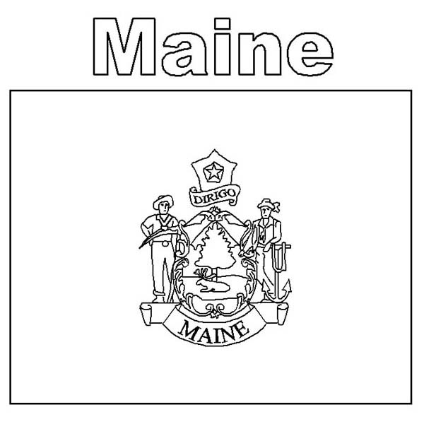 maine state flag coloring page maine flag coloring page state flag drawing flags web maine page coloring state flag