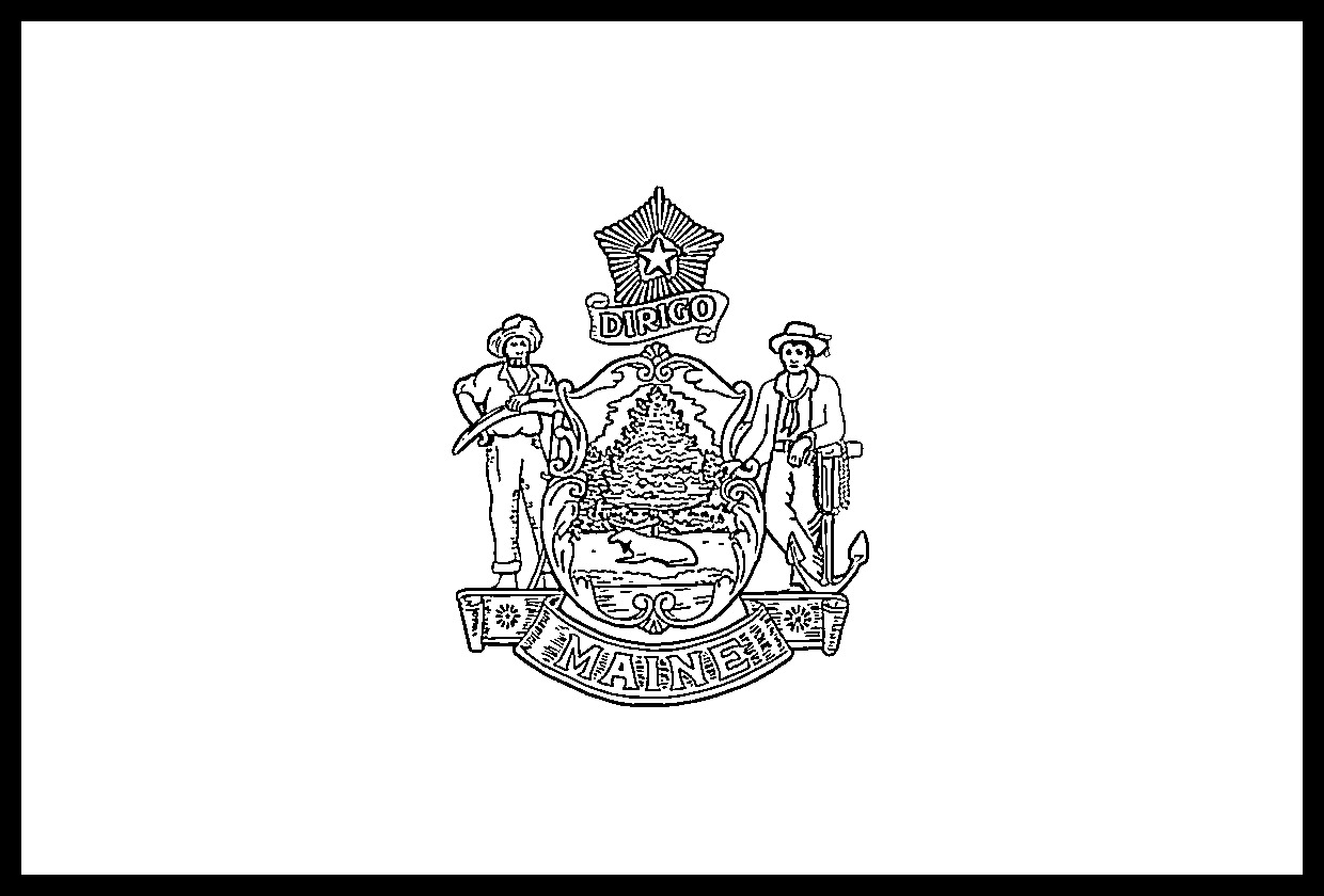 maine state flag coloring page usa printables maine state flag state of maine coloring state coloring page flag maine