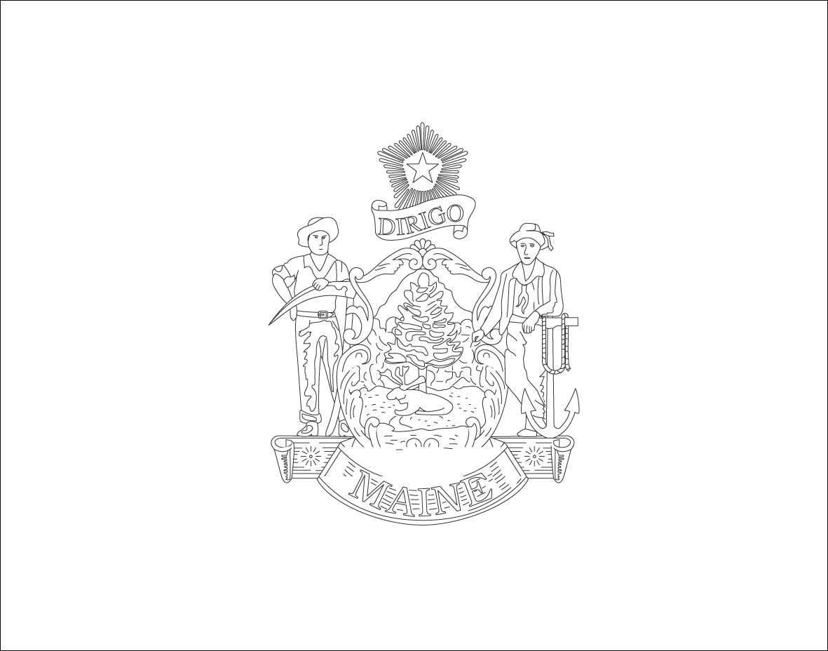 maine state flag coloring page world flags coloring pages 4 page maine flag coloring state