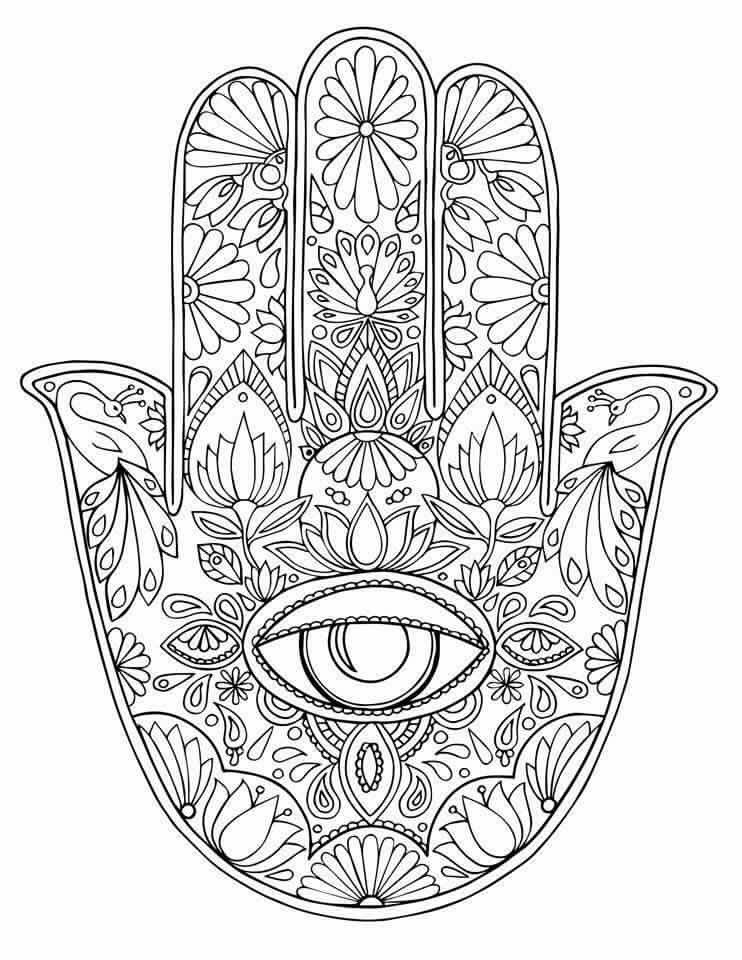 mandala hand coloring pages mandala hamsa hand coloring pages for adults sketch mandala hand pages coloring