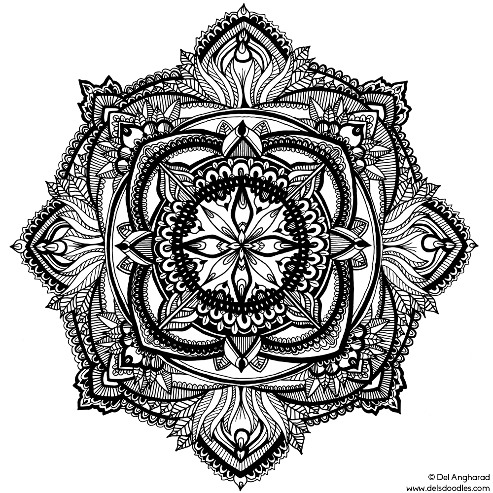 mandala hand coloring pages simple hand drawn mandala with straight lines mandalas hand mandala pages coloring