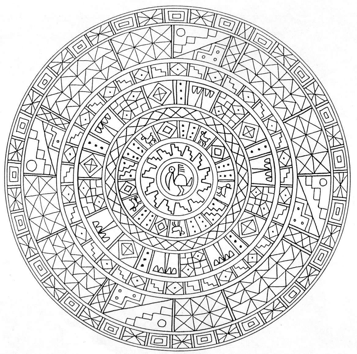 mandala pages don39t eat the paste the first mandala of 2016 mandala pages