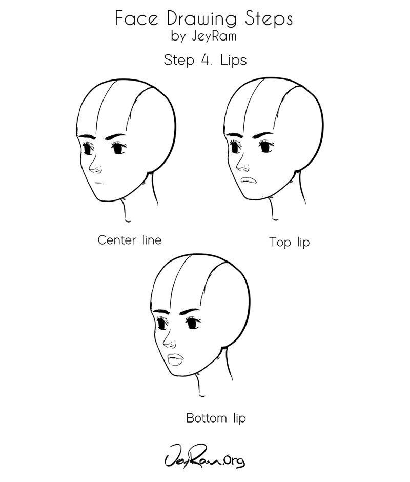 manga step by step how to draw a female face step by step tutorial for manga by step step