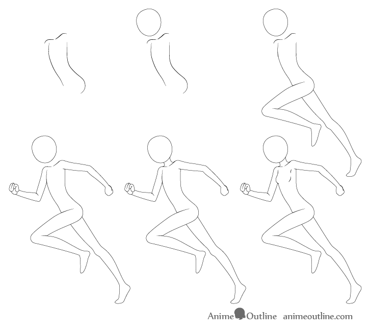 manga step by step how to draw anime poses step by step animeoutline manga step step by