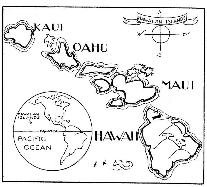 map of hawaii coloring page hawaii state map outline coloring page hawaiian hawaii coloring hawaii map page of