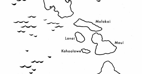 map of hawaii coloring page hawaii state outline coloring sheet the us50 with coloring map hawaii of page