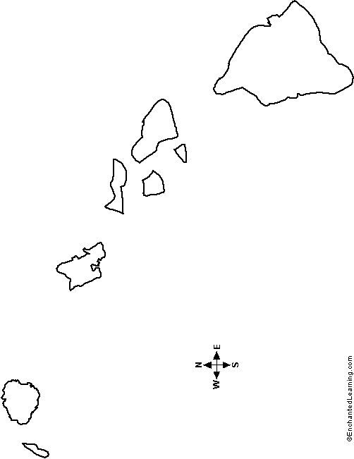 map of hawaii coloring page hawaiian islands map silhouette free vector silhouettes of map hawaii coloring page