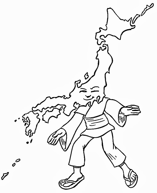 map of japan coloring page japan map vector at vectorifiedcom collection of japan of coloring japan page map