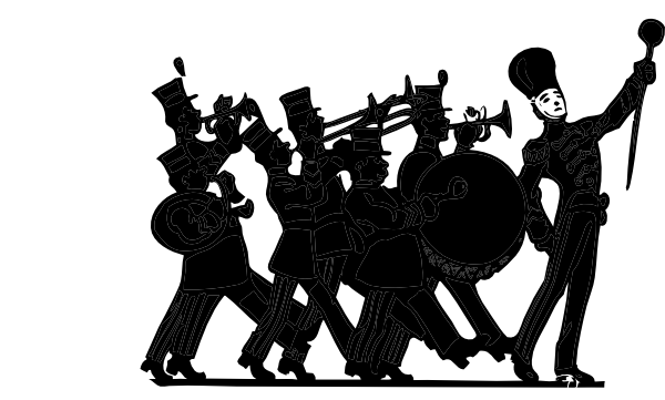 marching band silhouette marching band clipart clipartsco marching band silhouette