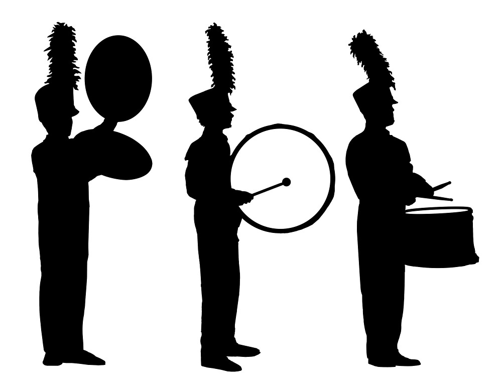 marching band silhouette marching band clipart silhouette 10 free cliparts band silhouette marching