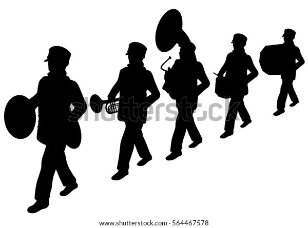 marching band silhouette marching band silhouette at getdrawingscom free for marching band silhouette