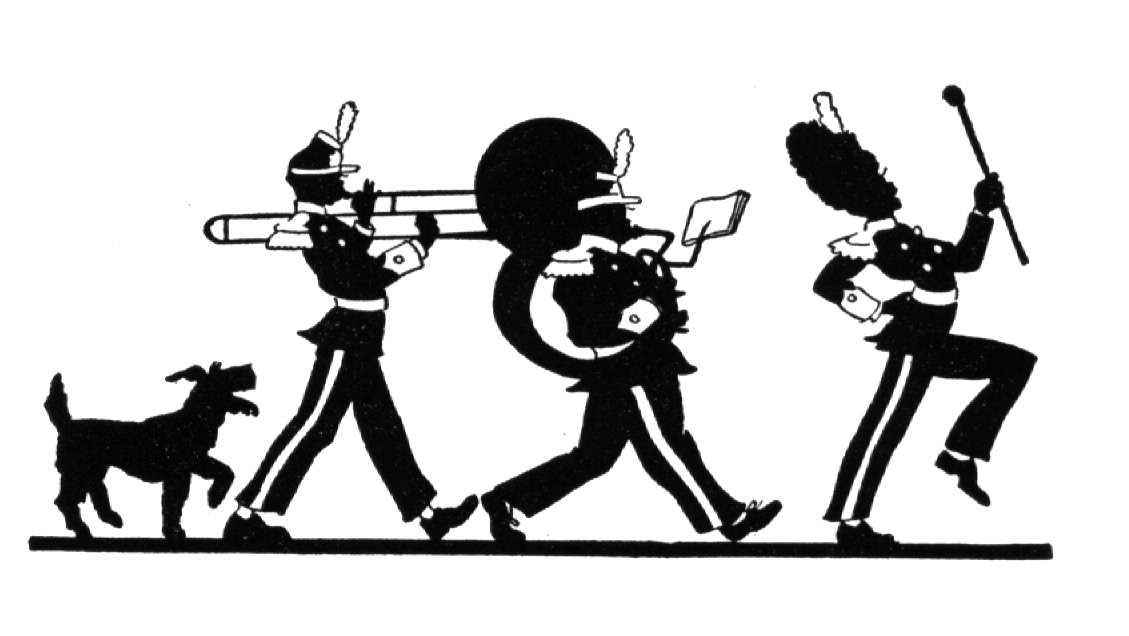 marching band silhouette marching band silhouette at getdrawingscom free for marching silhouette band