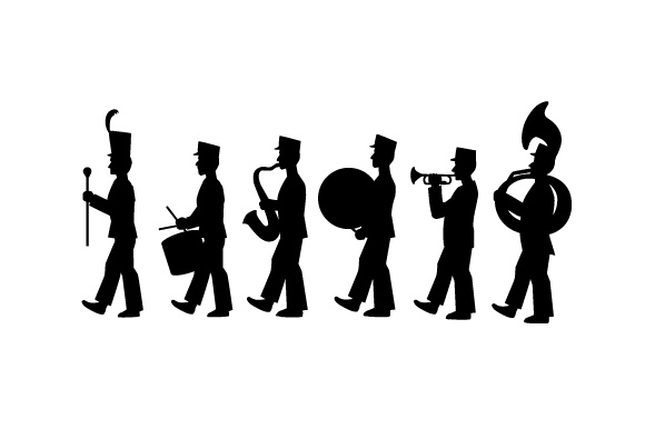 marching band silhouette stock vector marching band shows marching band band marching band silhouette