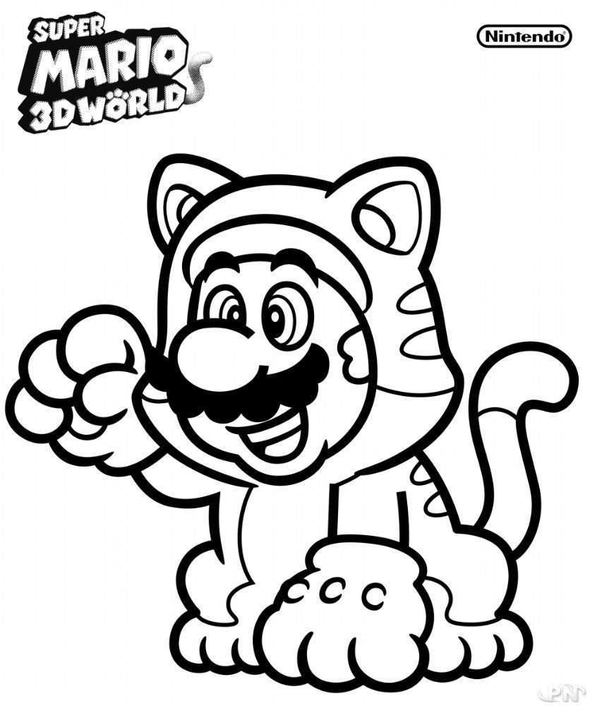 mario 3d world coloring pages cat mario coloring pages at getcoloringscom free coloring 3d pages world mario