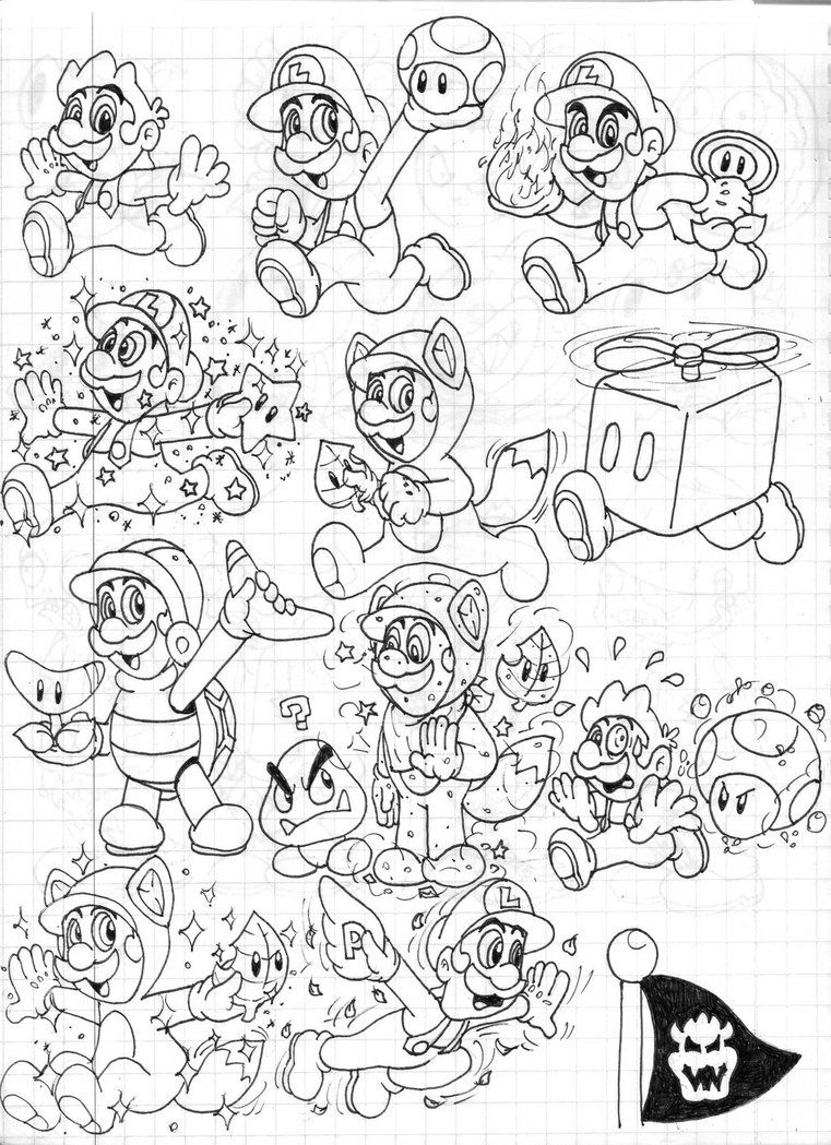 mario 3d world coloring pages colors live mario 3d land coloring page 7 by awesomegirl pages mario 3d world coloring