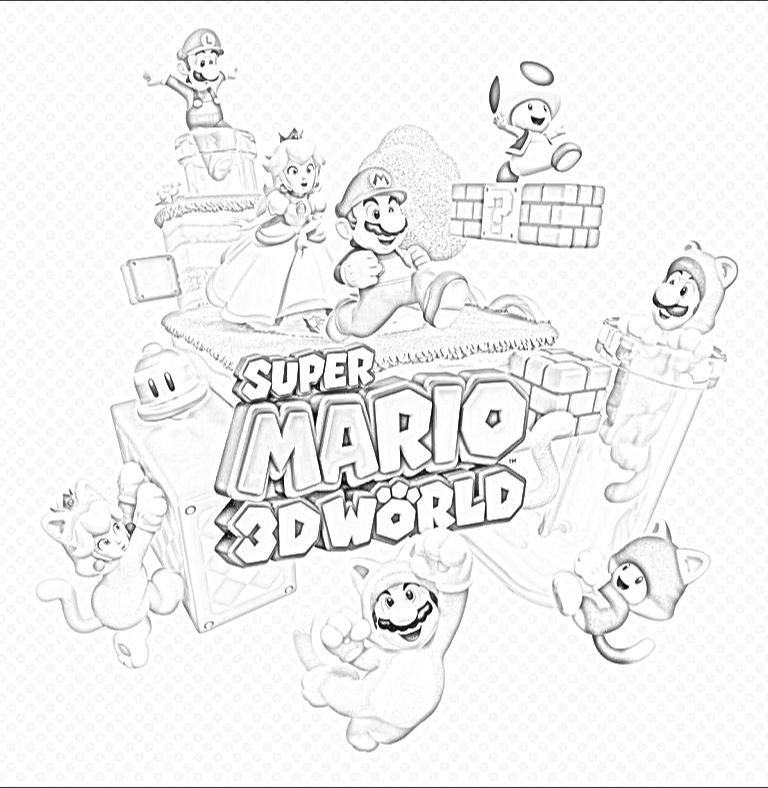 mario 3d world coloring pages super mario 3d world coloring pages coloring pages coloring mario world 3d pages