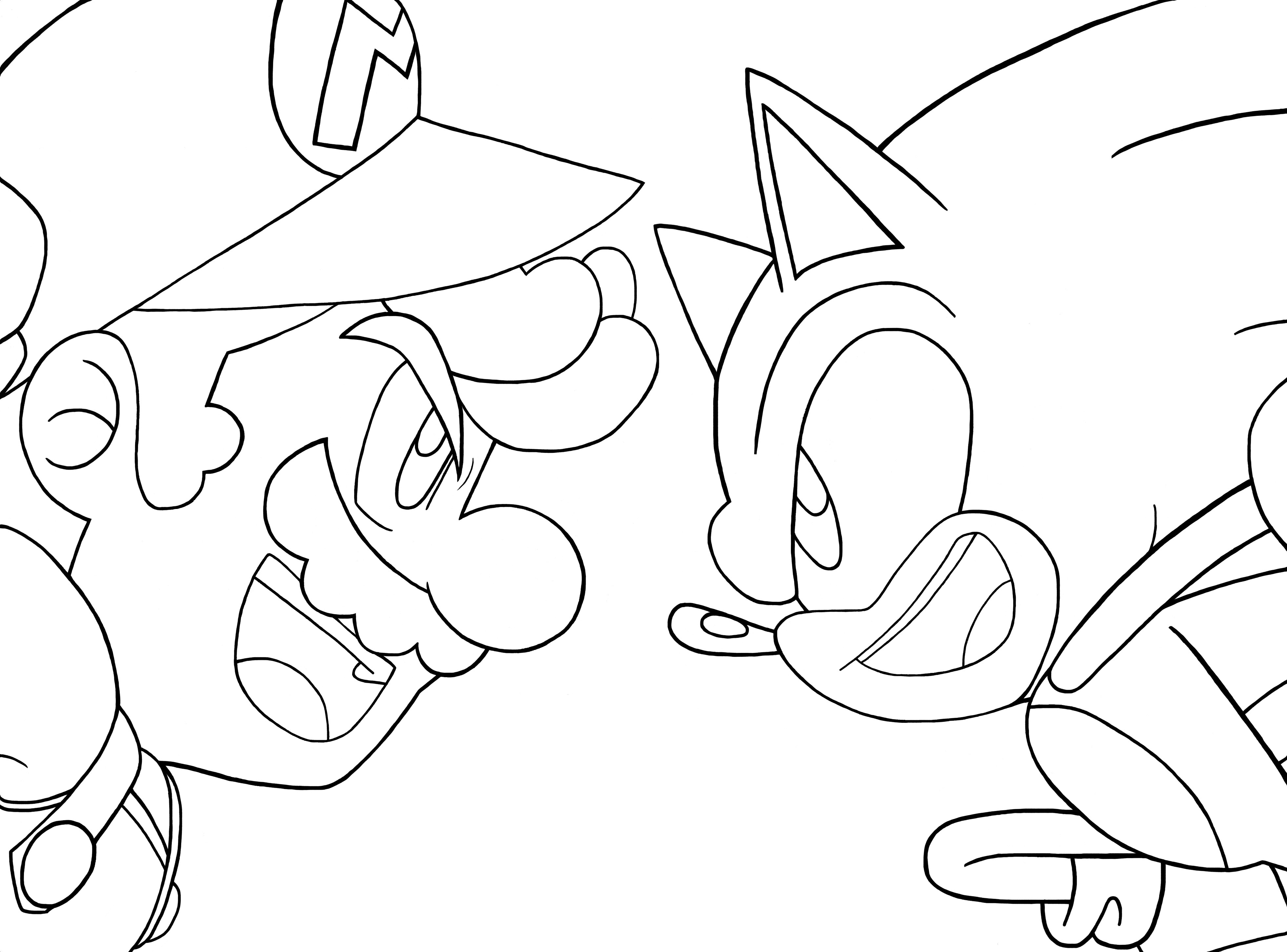 mario and sonic coloring pages mario coloring pages pages mario and coloring sonic
