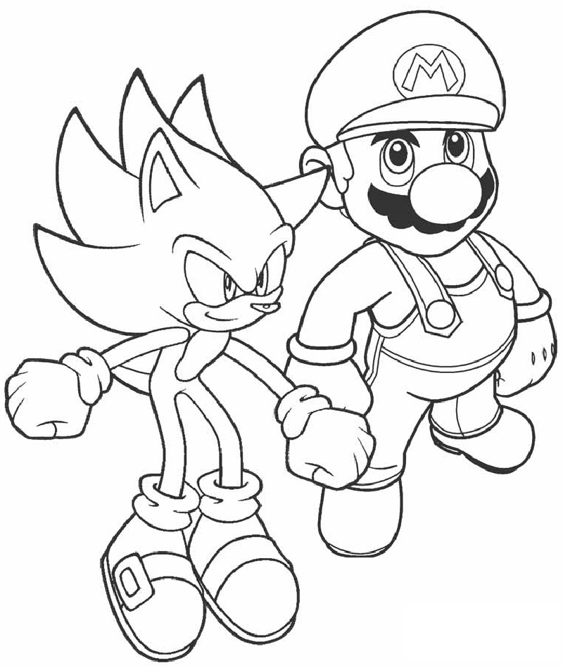 mario and sonic coloring pages mario sonic coloring page mario bros kids coloring pages and coloring sonic pages mario