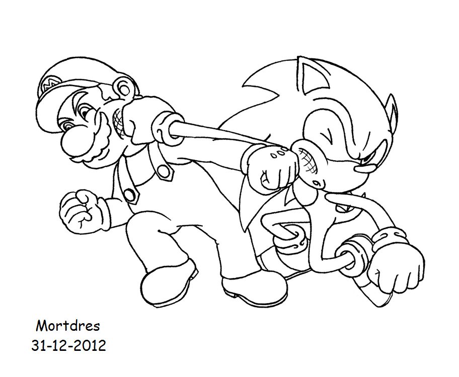 mario and sonic coloring pages mario vs sonic head to head coloring by bluetyphoon17 on mario and pages sonic coloring