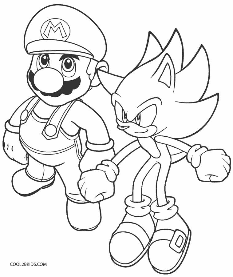 mario and sonic coloring pages mario vs sonic pages coloring pages mario sonic coloring and pages