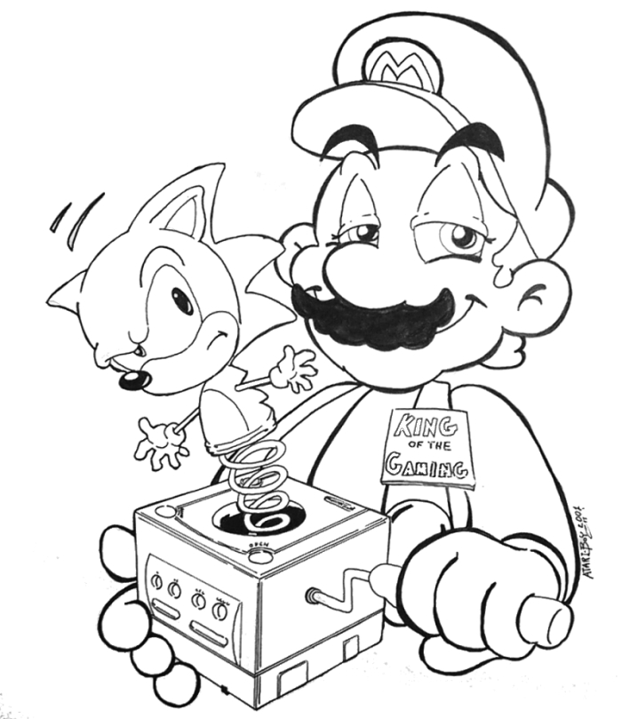 mario and sonic coloring pages mario vs sonic pages coloring pages sonic coloring and mario pages