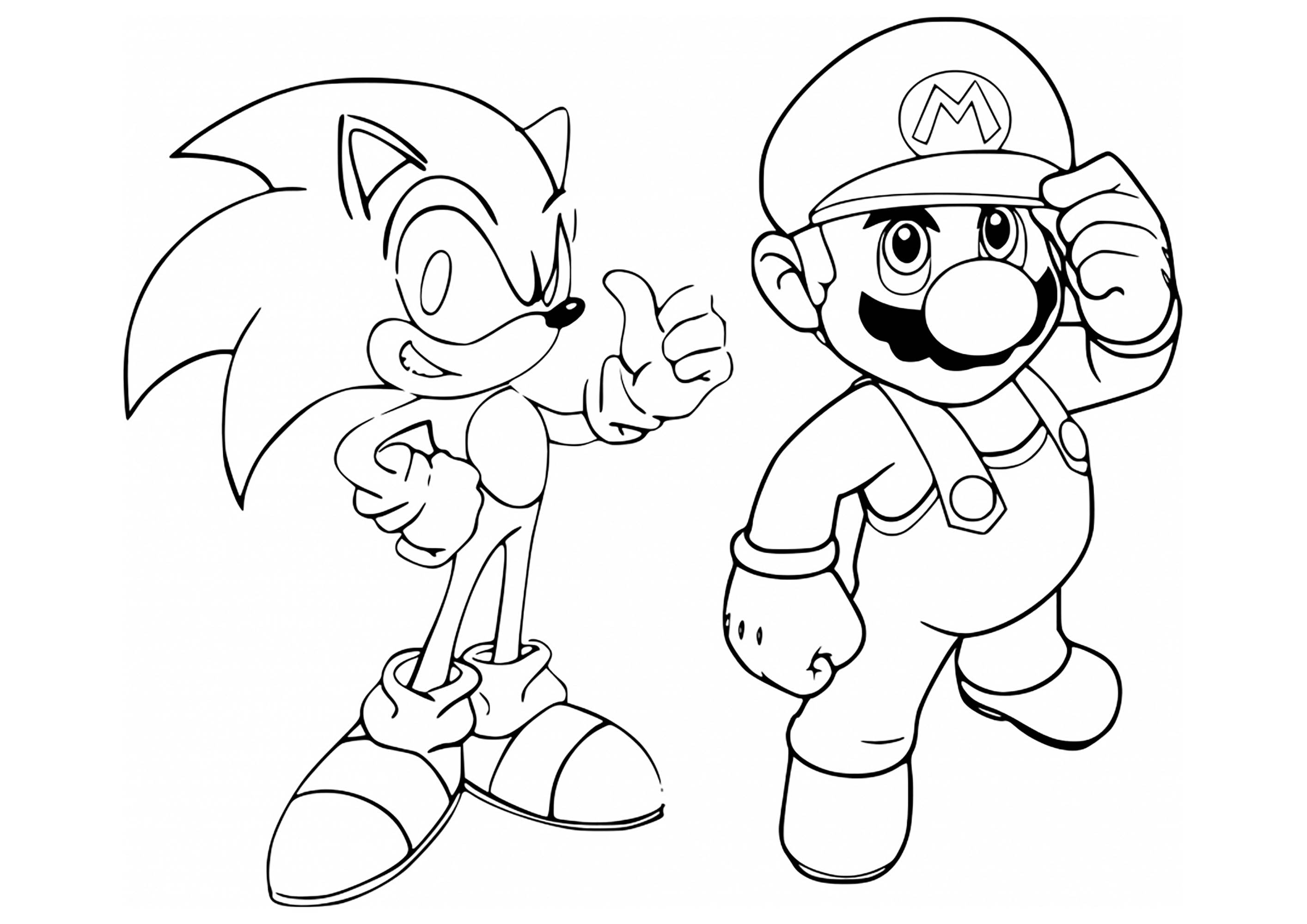 mario and sonic coloring pages mario vs sonic pages coloring pages sonic coloring mario pages and