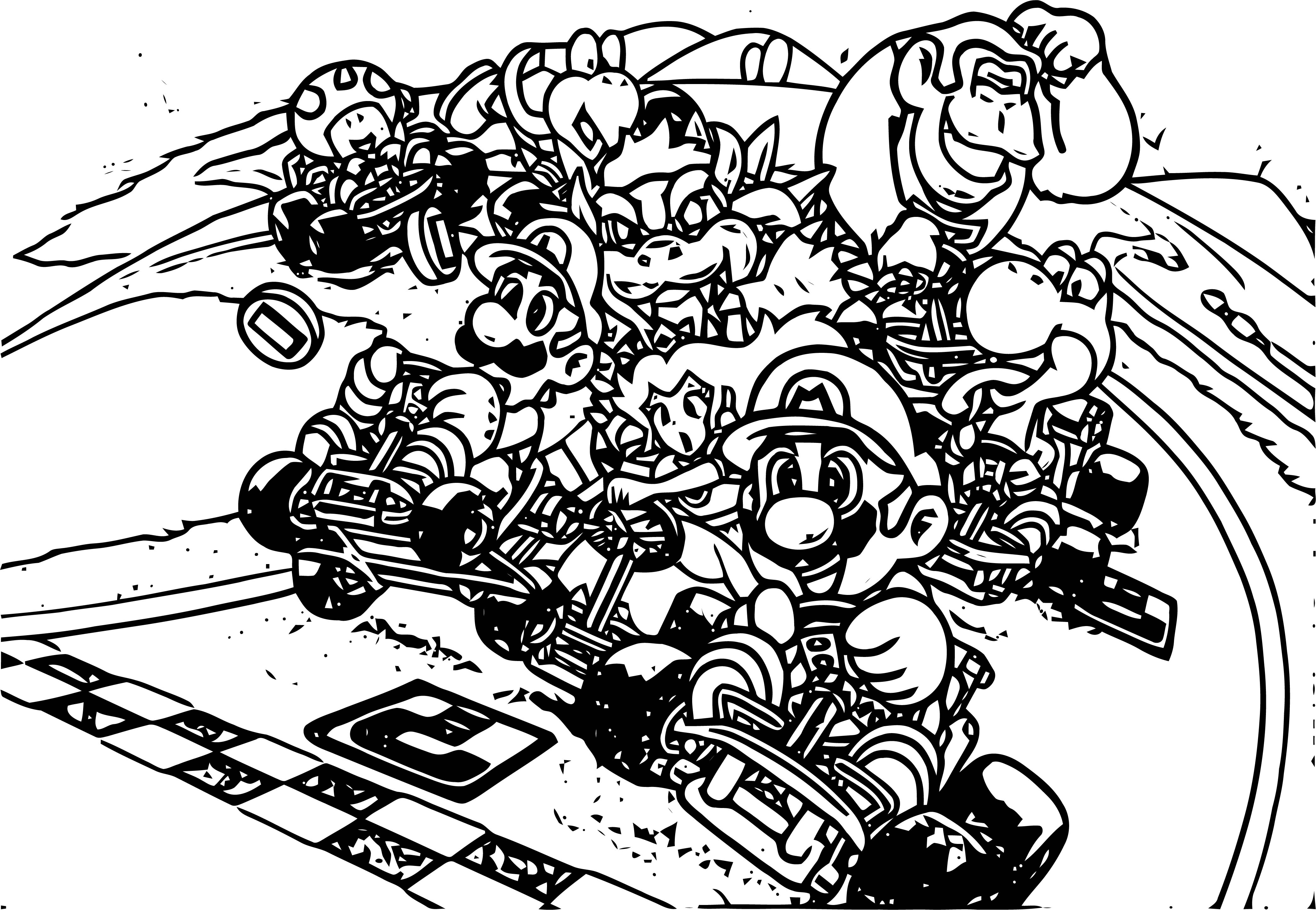 mario kart 7 coloring pages pin by mikr trimble on line art mario coloring pages 7 coloring mario kart pages