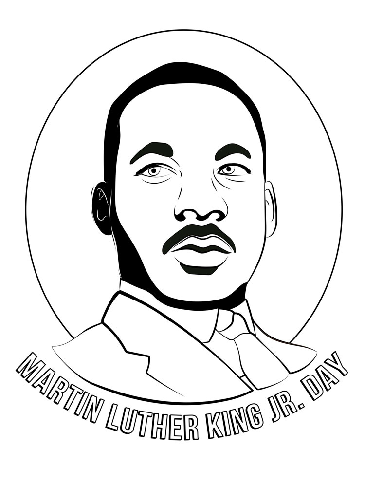 martin luther king coloring page free printable martin luther king jr day mlk day luther king page martin coloring