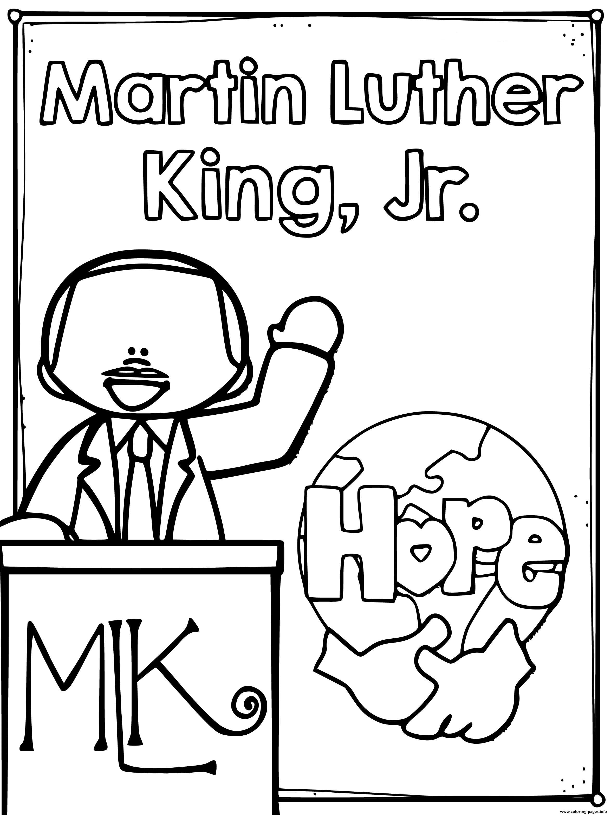martin luther king coloring page free printable martin luther king jr day mlk day page luther king martin coloring