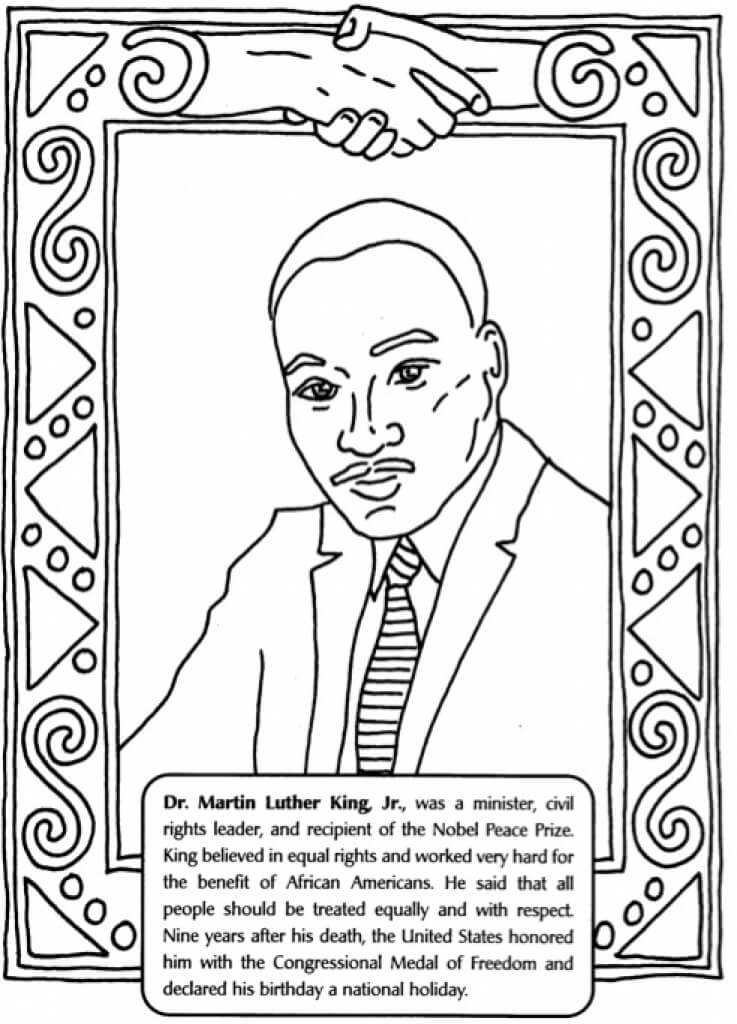 martin luther king coloring page martin luther drawing at getdrawings free download page king coloring martin luther