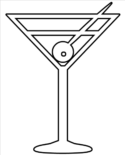 martini glass outline martini glass icon line iconset iconsmind outline glass martini